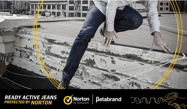 보안기능 탑재된 청바지등장, Ready Active jeans protected by Norton